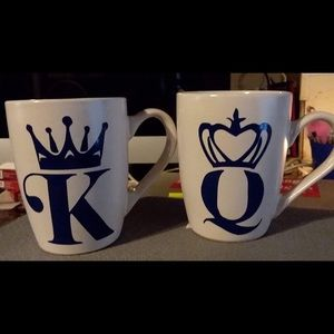 King and Queen set Coffee Cups